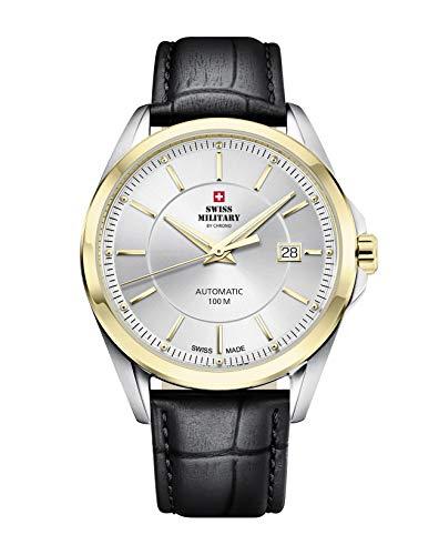 Swiss Military by Chrono Reloj de pulsera analógico automático para hombre con correa de piel SMA34085.16