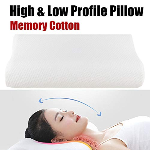 2ci Yanz Contour Pillow Soft Cervical Pillow Memory Foam Orthopedic Pillow Premium Neck Support Pillow with Bamboo Cover Best Cervical Neck Pillow for Side & Back Sleeper