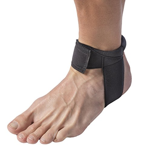 Cho-Pat Achilles Tendon Strap, Developed with Sports Medical Professionals at Mayo Clinic to Reduce Stress & Alleviate Achilles Tendonitis Pain, Black, Medium