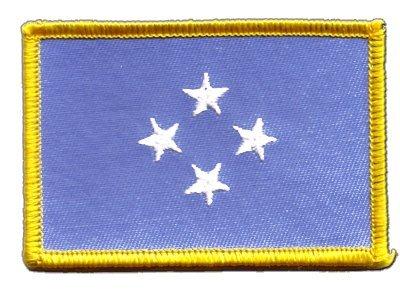 Aufnäher Patch Flagge Mikronesien - 8 x 6 cm
