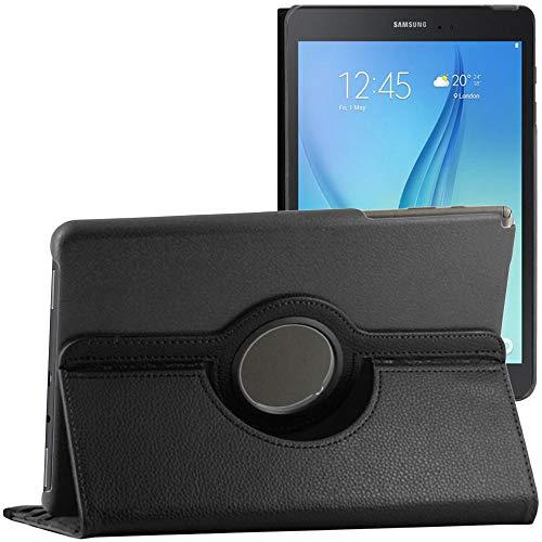 ebestStar - Funda Compatible con Samsung Galaxy Tab A 9.7 T550 / S Pen P550 Carcasa Cuero PU, Giratoria 360 Grados, Función de Soporte + Lápiz, Negro [Aparato: 242.5 x 166.8 x 7.5mm, 9.7'']
