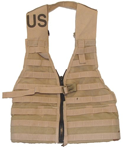 Military Outdoor Clothing Previously Issued U.S. G.I. Coyote MOLLE II Fighting Load Carrier (FLC) Vest