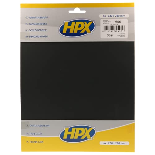 HPX 235934 Schleifpapier Körnung 600, Anzahl 4