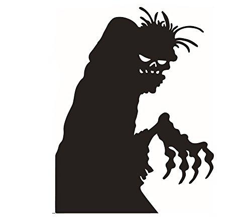 Haodou Schwarzes Halloween Wandtattoo Wandsticker Wandaufkleber fensterbilder Abnehmbare Wasserdicht Umwelt Küche Wohnzimmer Dekor Wandaufkleber - PVC 58 * 45cm