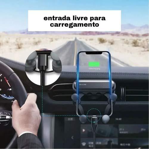 Suporte Para Celular Veicular P/AR Auto-Trava Com Peso Do Cel