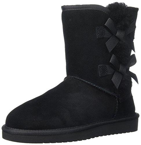 Koolaburra by UGG Women's Victoria Short Fashion Boot, Black, 10 M US