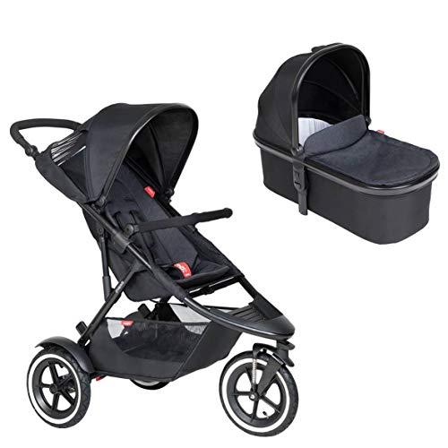 Ausstellungsstück Phil&teds Sport Buggy mit Sitzeinlage black + Babywanne (Carrycot) mit Abdeckung in der Farbe black