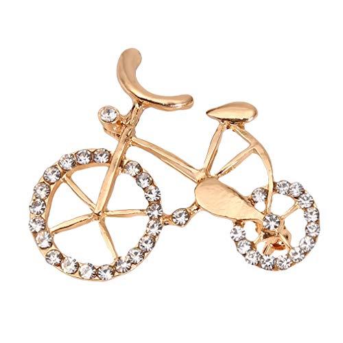 WEIHEEE Cartoon Fahrrad Form Brosche Cube Transparent Diamant Brosche Hohlkreis Corsage Einzigartige Jahrestag Schmuck Geschenke für Frauen