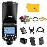 Godox V1F TTL Flash pour Fuji FUJIFILM Caméra 2.4G sans Fil Contrôle Flash de Tête Ronde 1/8000s HSS avec Batterie Lithium Haute Performance pour la Photographie de Studio/Portrait/Mariage