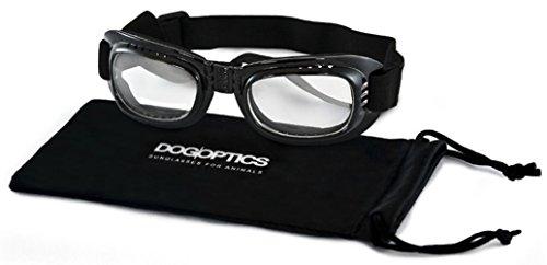 Dogoptics Hundebrille für kleine Hunde klare Gläser S Augenschutzbrille