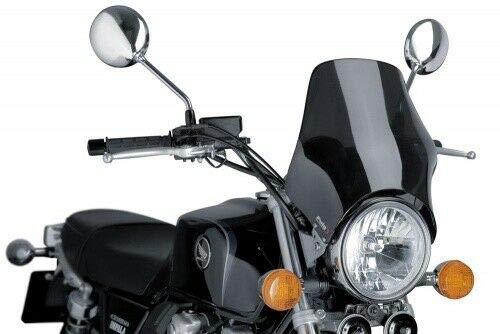 Preisvergleich Produktbild Puig 0869F1162 Windschutz-Scheibe NA z.B. Kawasaki Z 900 RS 2018 90% schwarz COC Set
