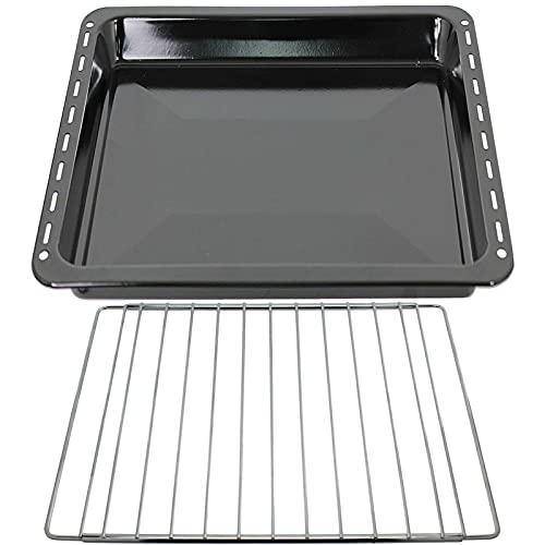 SPARES2GO Bandeja para hornear + estante ajustable extensible compatible con horno Whirlpool