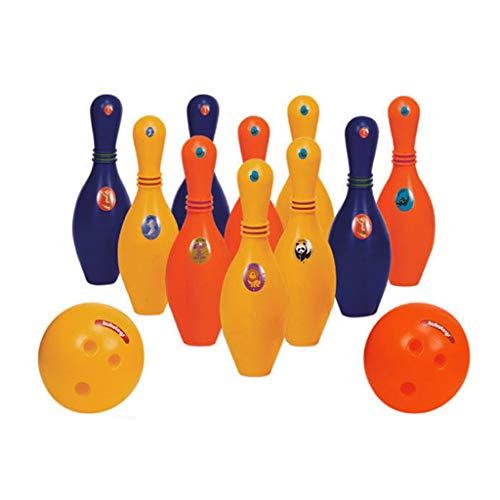 Juego De Bolos De Software para Niños 10 con 1 Bola Bolos De Entretenimiento De Software Multicolor Bolos De Actividades para Padres E Hijos Al Aire Libre (Color : 10 Bottles 1 Balls)