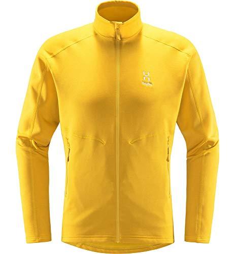 Haglöfs Fleecejacke Herren Fleecejacke Heron Jacket Men wärmend, atmungsaktiv, Stretch beweglich Extra Large Pumpkin Yellow XL XL