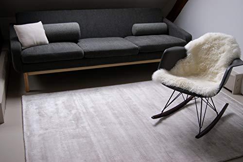 Alfombra Moderna Lounge Beige Crema 80x150cm - Alfombra Vintage Sedosa y Noble