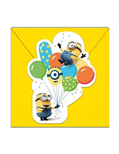 NEU Einladugskarten Minion Party, 6 Stück