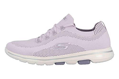 Skechers Damen Go Walk 5 - Uprise Sneaker, Violett (Lavender Textile/Trim Lav), 39 EU