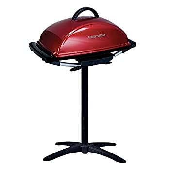 George Foreman 12-Serving Indoor/Outdoor Rectangular Electric Grill Red GFO201R