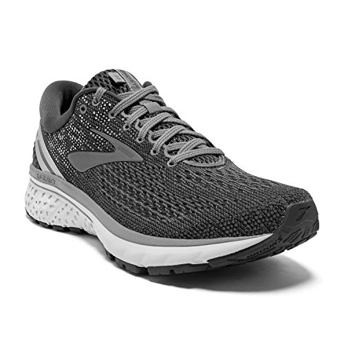 Brooks Mens Ghost 11 Running Shoe - Ebony/Grey/Silver - D - 11.5