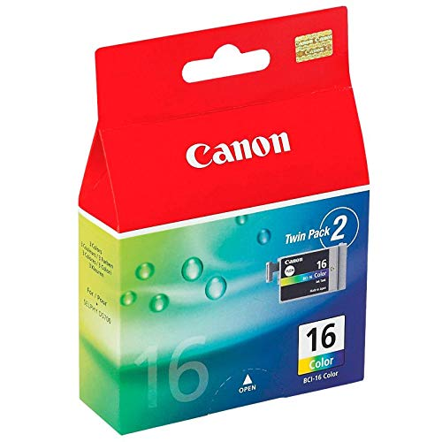 Canon BCI-16 colori, confezione doppia Serbatoio inchiostro per Canon PIXMA iP90/mini220/SELPHY DS700 stampanti (9818A002)