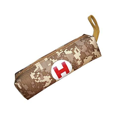 Papelería Oxford bolsa de tela de camuflaje suministros escolares caja de papelería para dispensadores de papelería escolar (color: marrón)