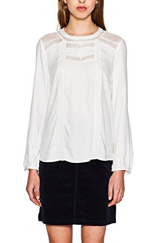 ESPRIT Damen 107EE1F016 Bluse, Weiß (Off White 110), 42