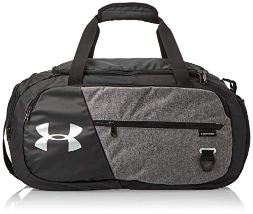 Under Armour Undeniable Duffle 4.0 kompakte Sporttasche, wasserabweisende Umhängetasche, Schwarz (Graphite Medium Heather/Black/Black (040), S