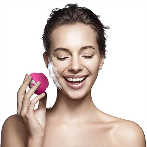 Escova Sônica para Limpeza Facial Bella Mini Recarregável, Multilaser, HC183, Rosa
