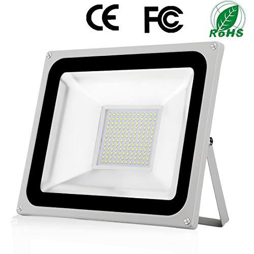 100W Foco Exterior LED IP65 Impermeable 10000LM 6500K Blanco Frío Super Brillante Luz de seguridad LED Foco Exteriores para Almacén Jardín Garaje Patio Campo Para Patio de recreo Césped