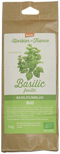 L'herbier De France Basilic Feuilles Bio Sachet Kraft 35 G