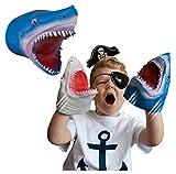 Snap Attack - Tiburón de Deluxebase. Marionetas de Mano para niños. Marionetas de Mano de tiburón, Juguetes elásticos, geniales para TDAH y Autismo. Juguetes de tiburón para niños y niñas.