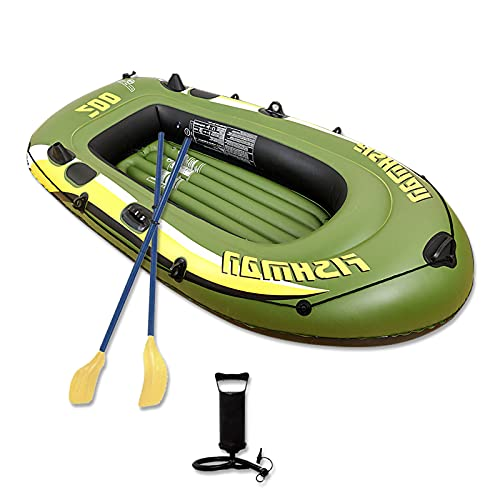 Eanpet Inflatable Boat for Adults 8 FT Kayak for 2 Person Portable Canoe Rafts for Pool Fishing Dinghy Tender Boats with Paddles and Air Pump