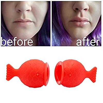 Leoie Women's Sexy Full Lip Plumper Enhancer Lips Silicone Fish Shape Plump Natural Pout Mouth Tool