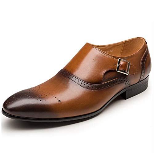 TAZAN Heren gesp jurk Brock jurk schoenen enkellaarzen dragen Oxford handgemaakte leren zolen business ademende vier seizoenen laag om platte bodem te helpen