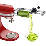 Bestand Spiralizer Attachment (5 Blades) Compatible with KitchenAid Stand Mixer, Comes with Peel, Core and Slice, Vegetable Slicer(Not KitchAid Brand Spiralizer)