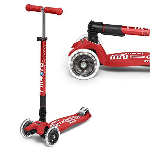 Micro Maxi Deluxe Foldable Red Led Scooter