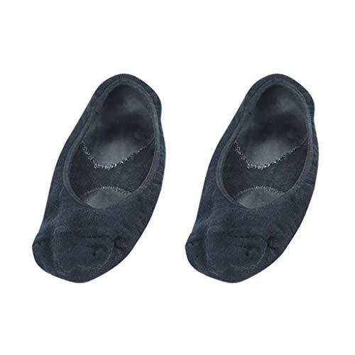 chiwanji 2pièces Chaussettes en Gel + Coton pour Hydratantes Soins des Pieds Exfoliantes Chaussures à Pieds Sèches Manucure Pédicure - Noir