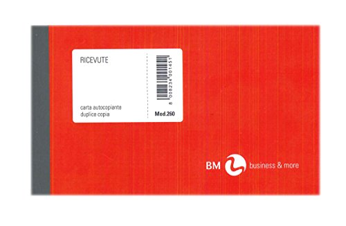 B&M - Talonario de recibos genéricos BM - 50hojas - 2 copias - Papel autocopiativo - Medidas 10x 17cm - Modelo n. 260