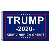 ドナルド・トランプの旗のための大統領の2020年キープアメリカグレートバナー、真鍮グロメット、色鮮やかなアンチフェージング、屋外庭の旗キット3×5フィート、2パック