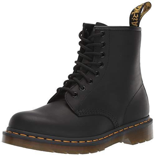 Dr. Martens 1460 8 Eye Boot, Botas de cuero Unisex, Negro (Black Greasy), 43 EU