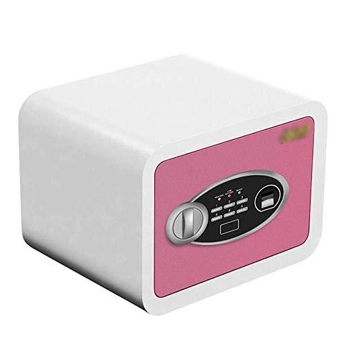ZBM - ZBM Safe Kluis, contant geld gewaardeerd High Security Elektronische digitale Safe staal vingerafdruk wachtwoord kleine kist startpagina vloer geld digitale kluis - 30 × 30 × 38 cm sleutelkast roze