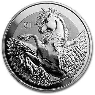 2018 VG Silver Pegasus $1 Brilliant Uncirculated
