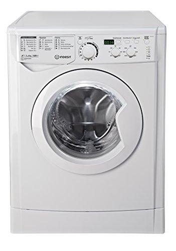 Indesit EWD 61483 W DE Waschmaschine FL / 153 kWh / 1400 UpM / 6 kg / 8643 Liter / MyTime, Schneller als 1 Stunde / Inverter-Motor / leise nur 54 db / Wasserstopp