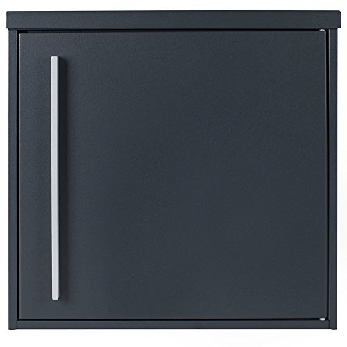 Briefkasten anthrazit-grau (RAL 7016) MOCAVI Box 101R, Postkasten matt, rostfrei, deutsche Qualität, Edelstahl-Namensschild, groß, Din A4