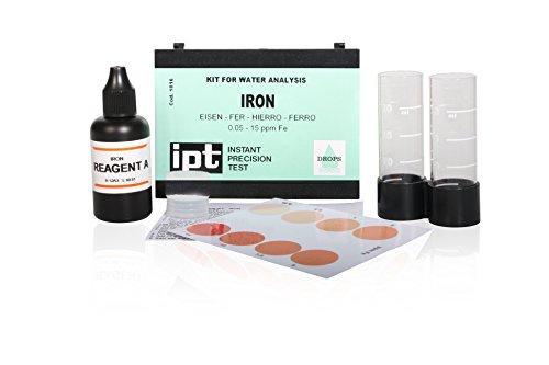 Wasserprobe Eisen Iron Indikator zur Eisen Bestimmung Test Water Kit Set