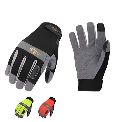 3 Paires de gants de travail en cuir synthétique