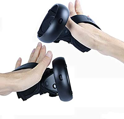 MASiKEN Touch Controller Skin Cover + Knuckle Straps for Oculus Quest/Oculus Rift S, Premium Controller Grip with Wrist Strap Accessories, Sweatproof Lightproof