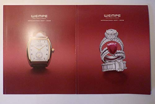Wempe . Feine Uhren & Juwelen . Impressionen 2007 – 2008 . 2 Bände . Mit Preisliste Deutschland .