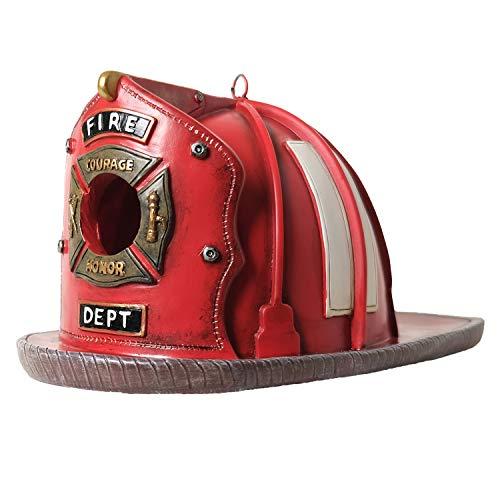 Vintage Firefighter's Helmet Birdhouse
