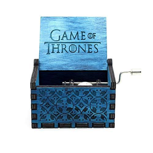TZSHUQ houten hand gescheurde muziekdoos kasteel in de hemel spel van muziek kerstcadeau Game of Thrones